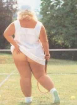Athena Poster tennis player scratching arse